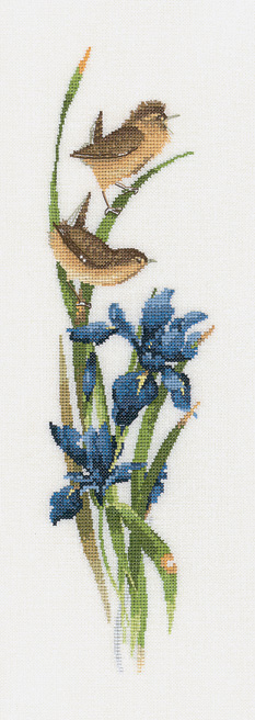 rhapsody in blue cross stitch kit