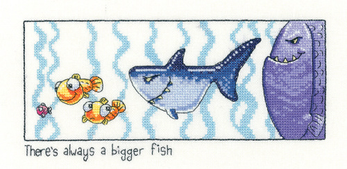 Always a Bigger Fish Cross Stitch