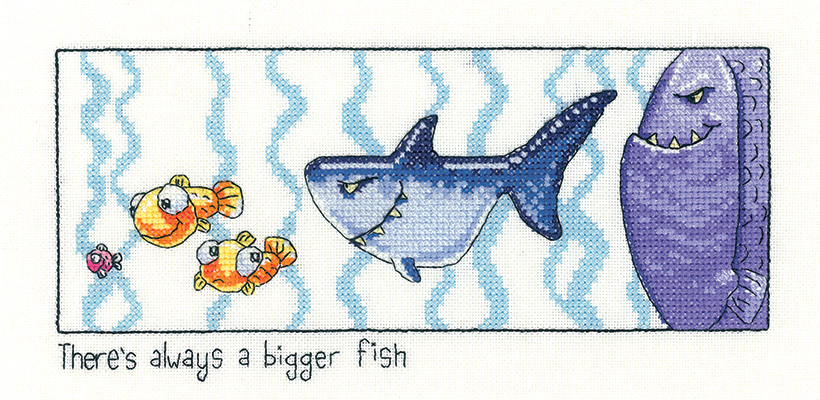 Always a Bigger Fish Cross Stitch