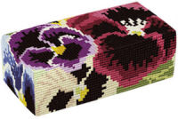 Pansies  Doorstop Kit - Brigantia Needlework
