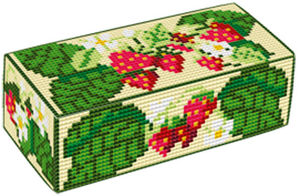 Strawberries  Doorstop Kit - Brigantia Needlework