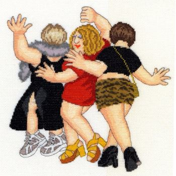 Girl's Night Out - Beryl Cook Cross Stitch