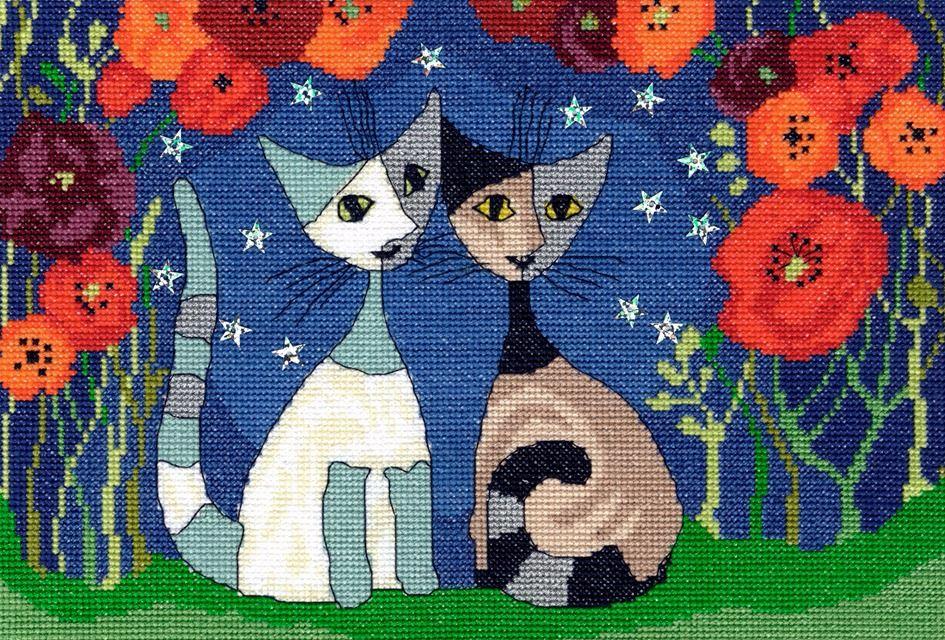 Poppy Nights - Rosina Wachtmeister Cross Stitch