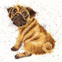 Pug Dog Cross stitch - Hannah Dale