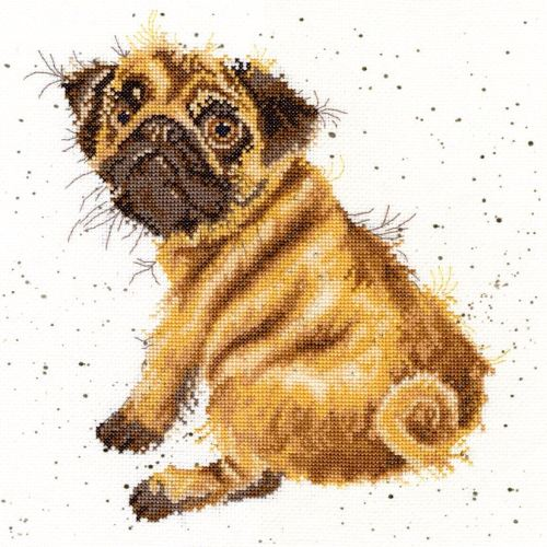 Pug Dog Cross stitch - Hannah Dale - Wrendale Designs