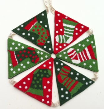 Christmas Stockings Tapestry Bunting (Plain Canvas)