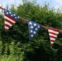 USA Flag Stars and Stripes Tapestry Bunting (Plain Canvas)