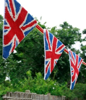 Union Jack Tapestry Bunting (Plain Canvas)
