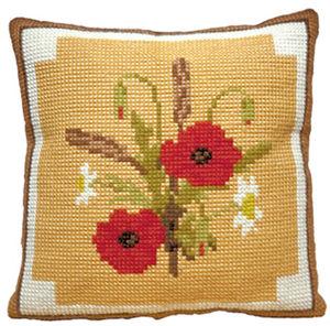 Poppies -  Cross Stitch Kit (printed canvas)