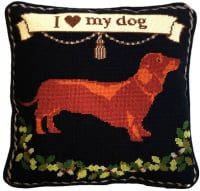 Dachshund Dog Tapestry Kit (Plain Canvas)