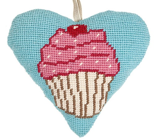 Cupcake Lavender Heart Tapestry (Buy 2 for £27)