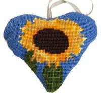 Sunflower Lavender Heart Tapestry