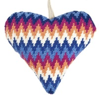 Blue Bargello Lavender Heart Tapestry