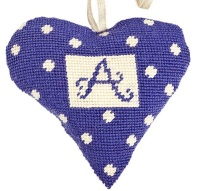 Purple Alphabet Lavender Heart Tapestry (Buy 2 for £27)