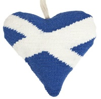 Scottish Saltire Lavender Heart Tapestry (Buy 2 for £27)
