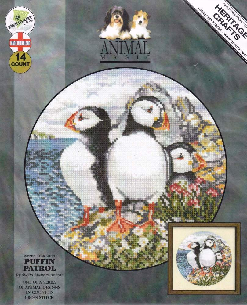 Puffin Patrol Cross Stitch