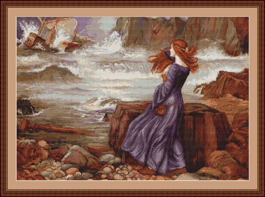 Miranda (The Tempest) - Petit Point Kit