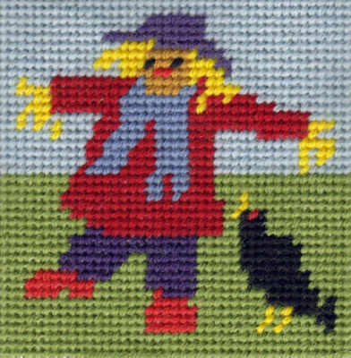 Mini Scarecrow Tapestry Kit - Beginners