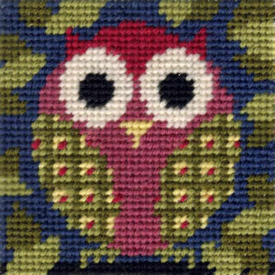 Mini Owl Tapestry Kit - Beginners