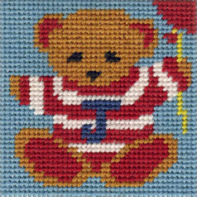 Mini Ted Tapestry Kit - Beginners
