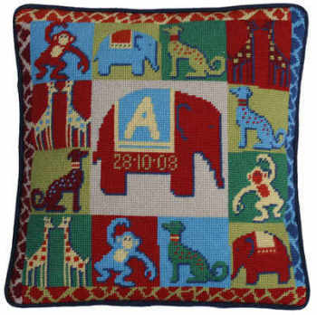 Zoo Sampler Tapestry Kit (Plain Canvas)