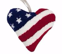 Stars and Stripes Lavender Heart Tapestry