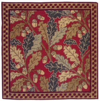 Red Acorn Cushion Tapestry Kit