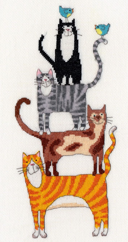 Cat Stack - Bothy Threads Cross Stitch Kit