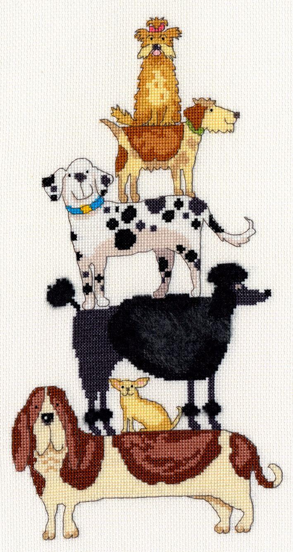 Dog Stack - Bothy Threads Cross Stitch Kit