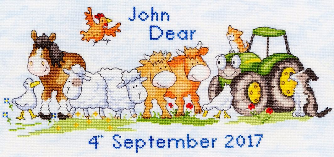 First Born Baby Sampler - Bothy Threads Cross Stitch Kit