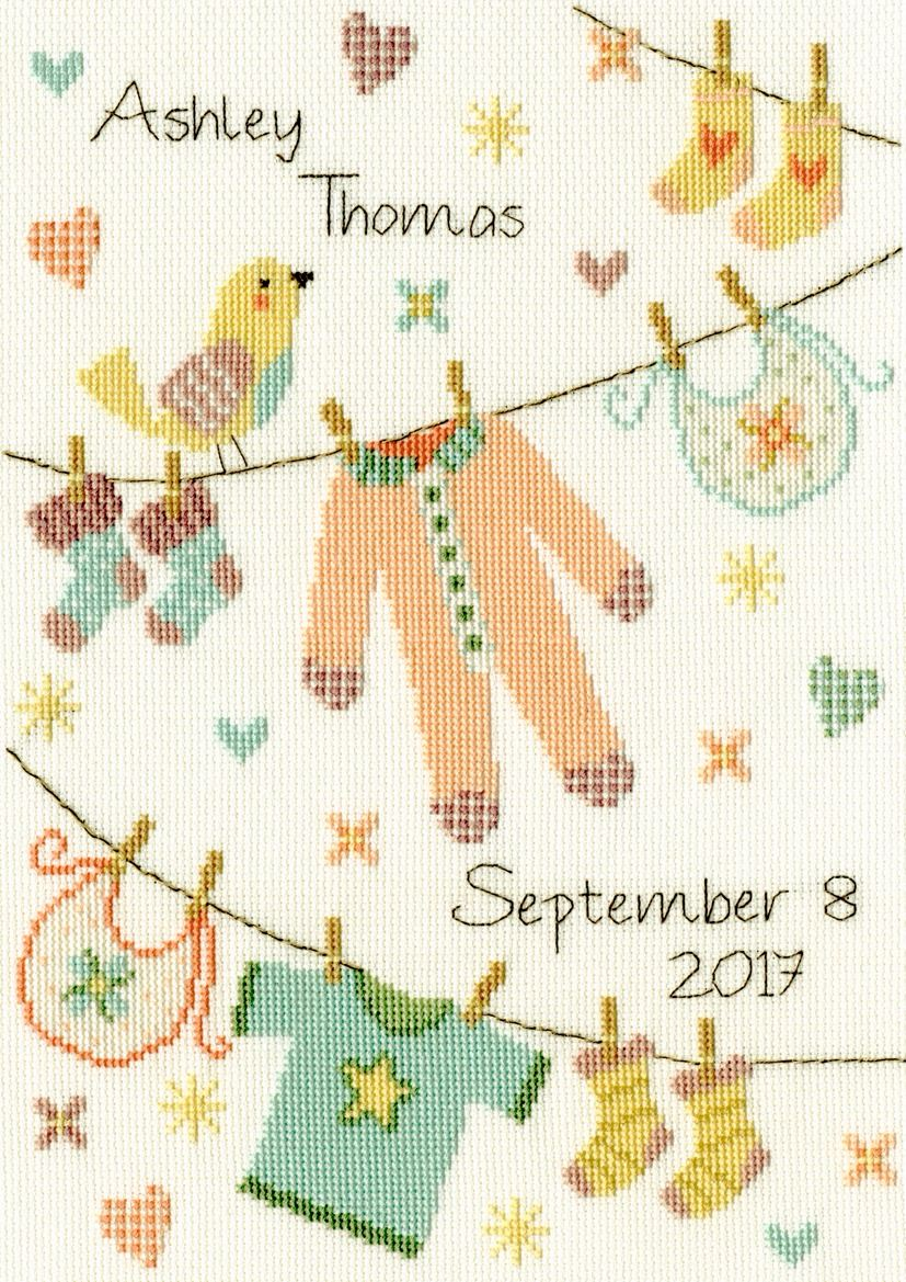 Baby Grow Sampler - Bothy Threads Cross Stitch Kit