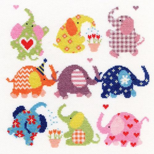 Sightly Dotty Elephants - Bothy Threads