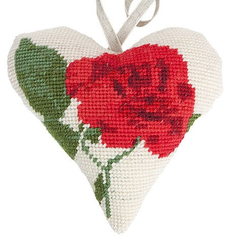 Rose Lavender Heart Tapestry (Buy 2 for £27)