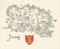 Jersey - Map Cross Stitch CHART ONLY