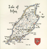 Isle of Man - Map Cross Stitch CHART ONLY