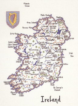 Ireland - Map Cross Stitch CHART ONLY