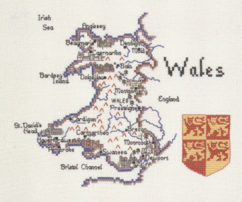 Wales - Map Cross Stitch CHART ONLY