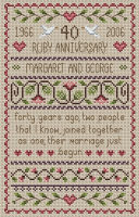 <!-- 024 -->Ruby Anniversary Cross Stitch 40th