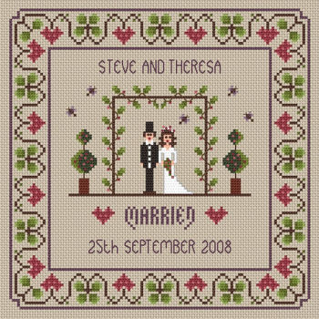 Wedding Cross Stitch Sampler