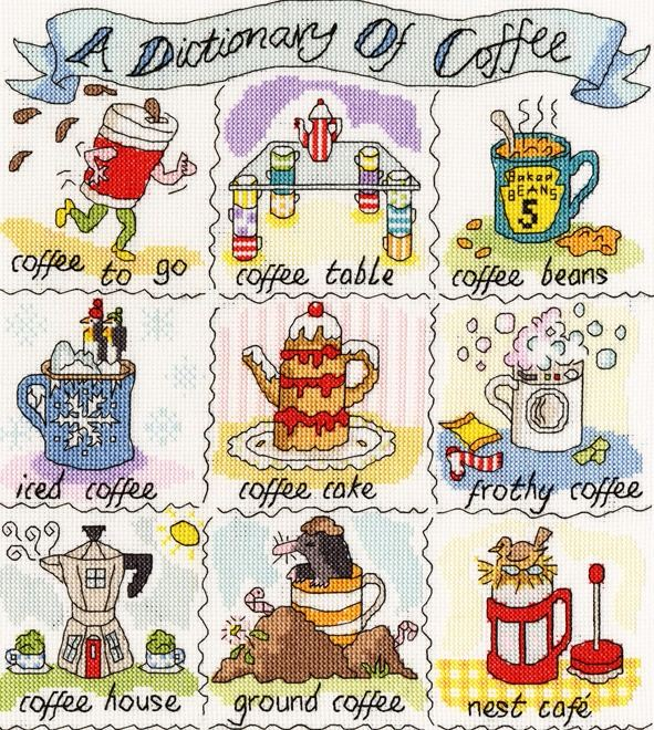 A Dictionary of Coffee - Bothy Threads Cross Stitch
