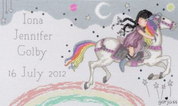 Birth Sampler - The Runaway -  Gorjuss Cross Stitch