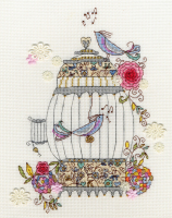 Love Birds Cross Stitch - Bothy Threads