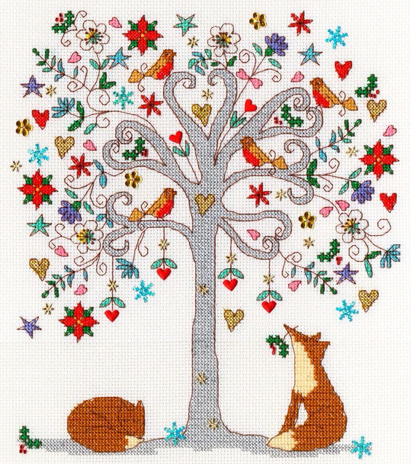 Love Winter Cross Stitch - Bothy Threads
