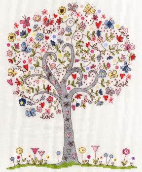 Love Tree Cross Stitch - Bothy Threads