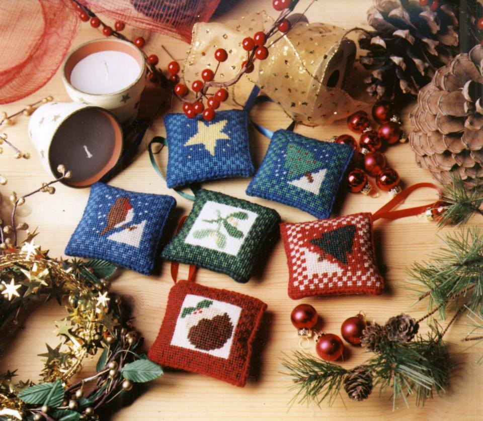 Christmas Decorations Tapestry Kit (Set of 6)
