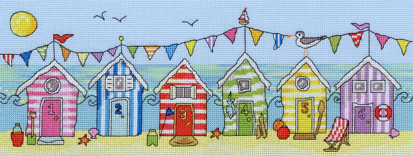 Beach Hut Fun - Bothy Threads Cross Stitch