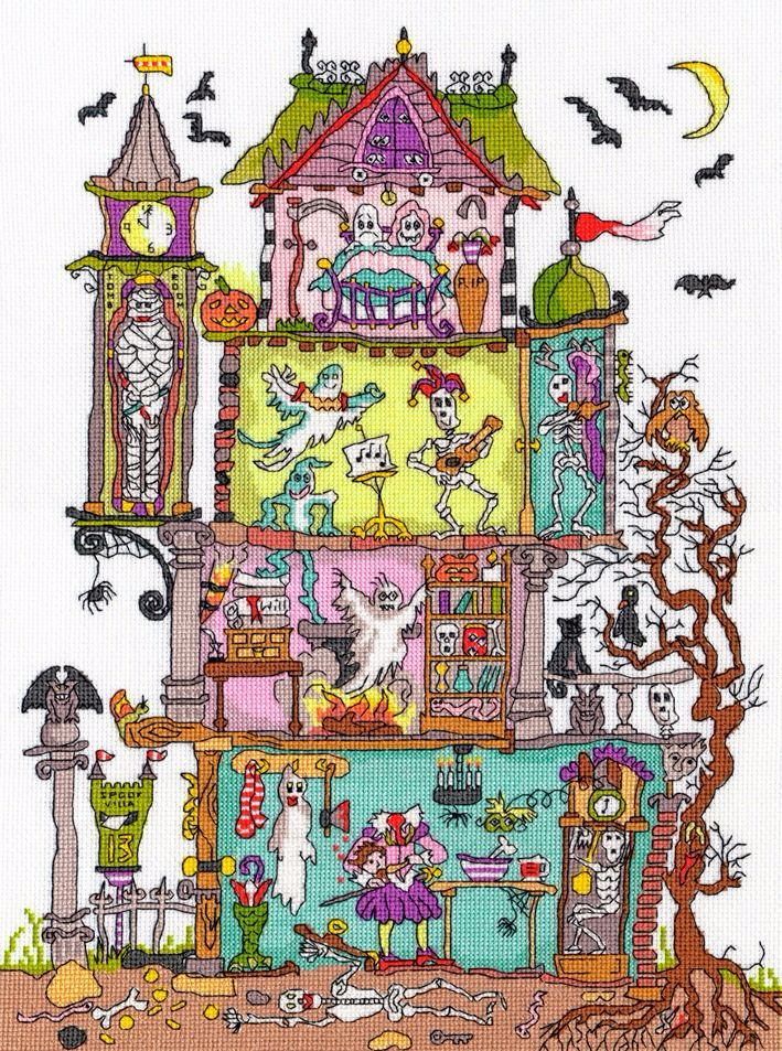 Haunted House - Bothy Threads Cut Thru' Cross Stitch Kit