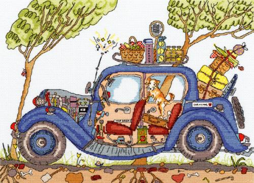 Vintage Car - Bothy Threads Cut Thru'