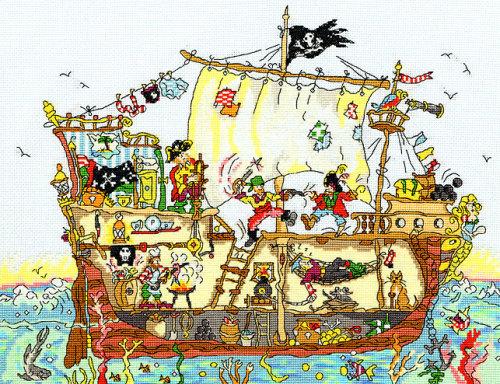 Pirate Ship - Bothy Threads Cut Thru'