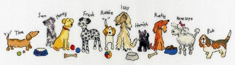 Row of Dogs - Bothy Threads Cross Stitch